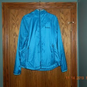 Women's Columbia Teal Hooded Fuzzy Lined Jacket
